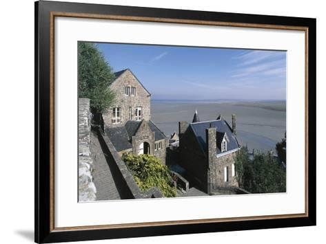 France, Normandy, Mont Saint-Michel, Ramparts--Framed Art Print