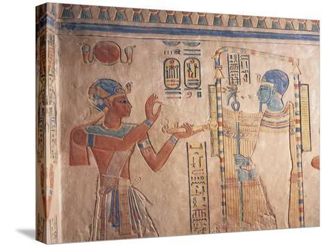 Egypt, Luxor Governorate, Valley of Queens, Tomb of Amenherkhepshef--Stretched Canvas Print