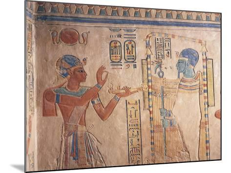 Egypt, Luxor Governorate, Valley of Queens, Tomb of Amenherkhepshef--Mounted Giclee Print