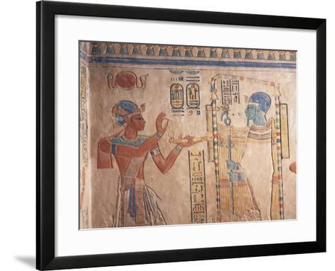 Egypt, Luxor Governorate, Valley of Queens, Tomb of Amenherkhepshef--Framed Art Print