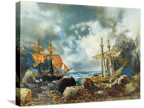 Germany, Bayreuth, the Flying Dutchman 1901--Stretched Canvas Print