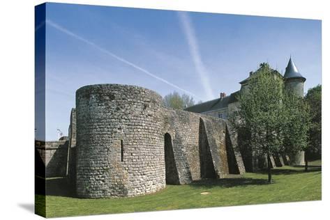 France, Ile-De-France, Nangis Castle--Stretched Canvas Print