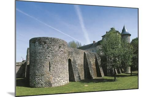 France, Ile-De-France, Nangis Castle--Mounted Giclee Print