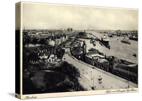 Hamburger Hafen, Dampfer Cap Polonio, Hsdg--Stretched Canvas Print