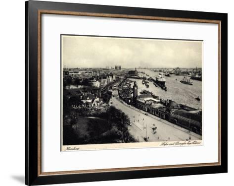 Hamburger Hafen, Dampfer Cap Polonio, Hsdg--Framed Art Print