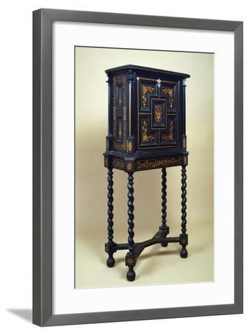 Inlaid Cabinet Made of Various Woods--Framed Art Print
