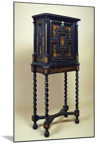 Inlaid Cabinet Made of Various Woods--Mounted Giclee Print