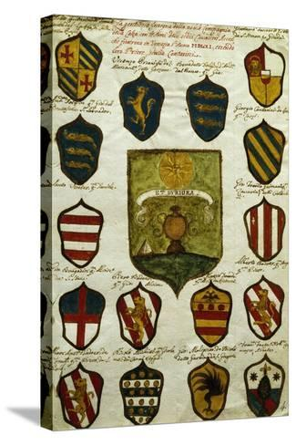 Coats of Arms for Noble Venetian Families Belonging to Brotherhood of Calza--Stretched Canvas Print