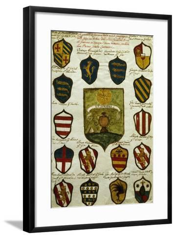 Coats of Arms for Noble Venetian Families Belonging to Brotherhood of Calza--Framed Art Print