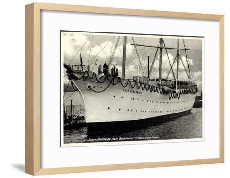 Hamburger Hafen, Segelschiff, Hein Godenwind--Framed Art Print