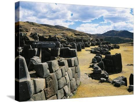 Peru, Cuzco, Inca Archaeological Site, Sacsahuaman Fortress--Stretched Canvas Print
