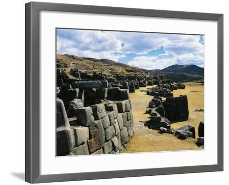 Peru, Cuzco, Inca Archaeological Site, Sacsahuaman Fortress--Framed Art Print