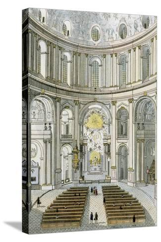 Interior of St. Charles' Church in Vienna, Austria--Stretched Canvas Print