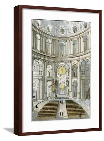 Interior of St. Charles' Church in Vienna, Austria--Framed Art Print