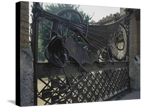 Wrought Iron Gates and Wire Mesh, 1884-1887--Stretched Canvas Print
