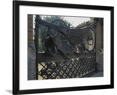 Wrought Iron Gates and Wire Mesh, 1884-1887--Framed Art Print