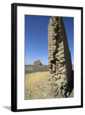 Remains of Roman Fortress of El Heiz, Giza, Egypt--Framed Art Print