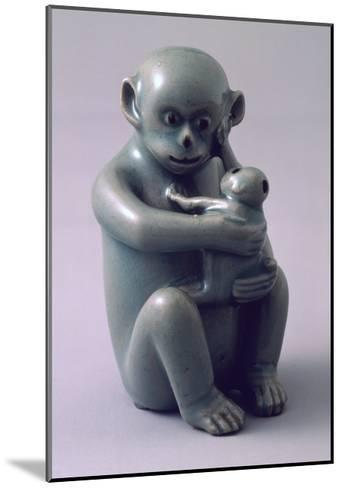 Water Dropper Vase in Shape of Monkey Hugging Her Baby Tightly, Korea--Mounted Giclee Print