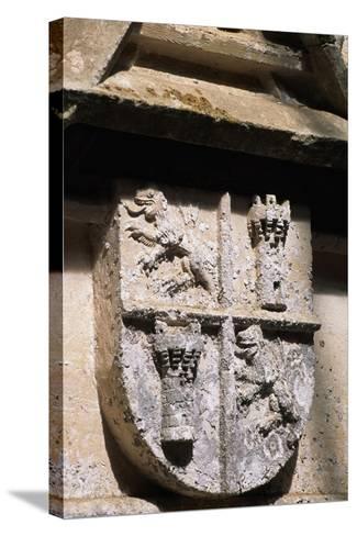 Crest, Decorative Detail from Chateau De L'Herm, Rouffignac-De-Saint-Cernin-Reilhac--Stretched Canvas Print
