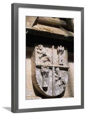 Crest, Decorative Detail from Chateau De L'Herm, Rouffignac-De-Saint-Cernin-Reilhac--Framed Art Print