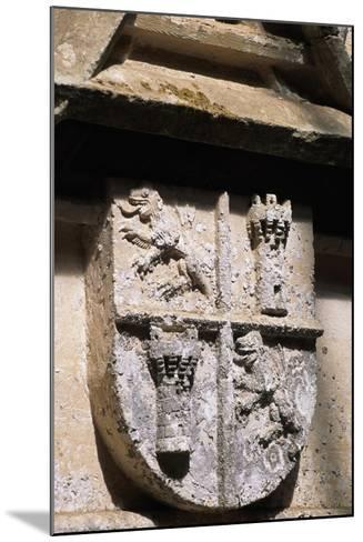 Crest, Decorative Detail from Chateau De L'Herm, Rouffignac-De-Saint-Cernin-Reilhac--Mounted Giclee Print