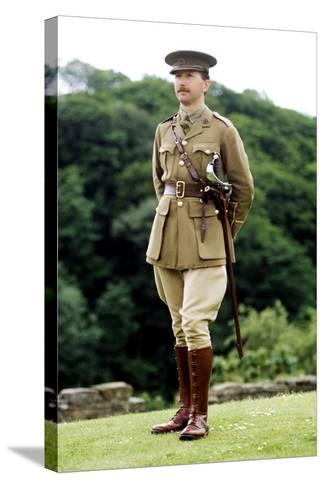 1st World War, British Officer, 1914 - 1918, Re-Enactment--Stretched Canvas Print