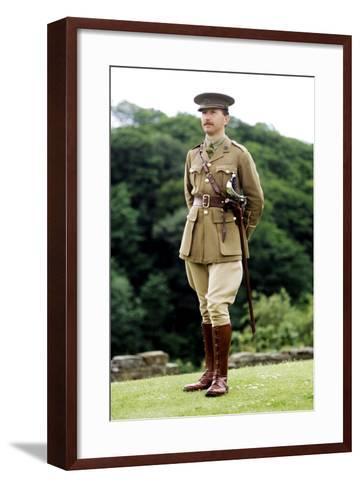 1st World War, British Officer, 1914 - 1918, Re-Enactment--Framed Art Print