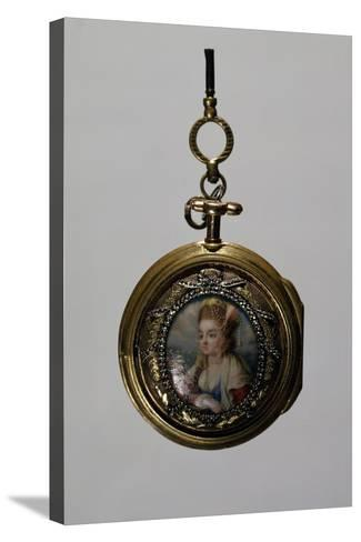 Gold Watch Case with Miniature Diamond Frame, Goldsmith Art--Stretched Canvas Print