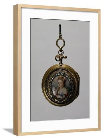Gold Watch Case with Miniature Diamond Frame, Goldsmith Art--Framed Art Print