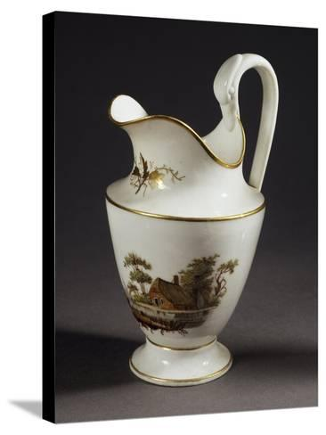 Milk Jug with Handle in Shape of Swan's Head, White Porcelain, 1805--Stretched Canvas Print