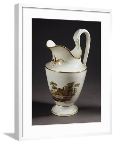 Milk Jug with Handle in Shape of Swan's Head, White Porcelain, 1805--Framed Art Print