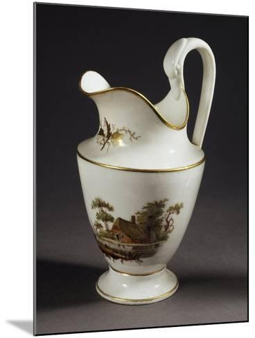 Milk Jug with Handle in Shape of Swan's Head, White Porcelain, 1805--Mounted Giclee Print