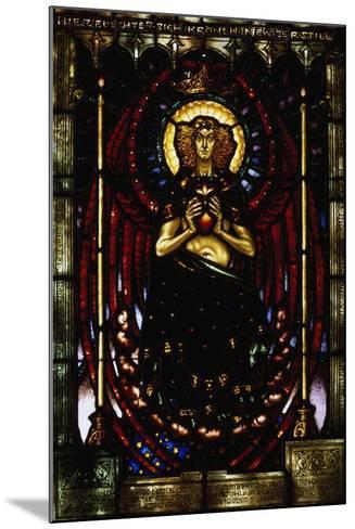 The Silent Guardian, Stained-Glass Window by Melchior Lechter, Germany, 1916--Mounted Giclee Print