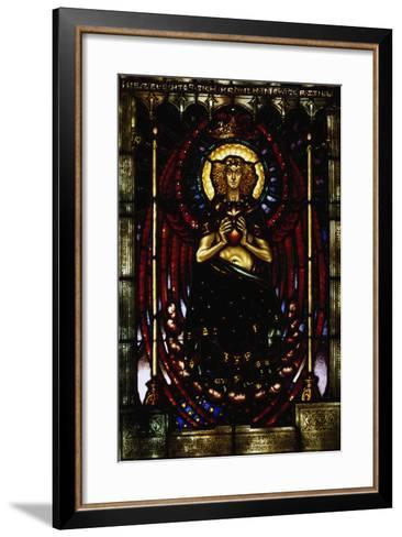 The Silent Guardian, Stained-Glass Window by Melchior Lechter, Germany, 1916--Framed Art Print