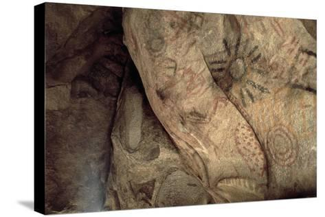 Cave Paintings Near Village of Catavina, Central Desert, Baja California Norte, Mexico--Stretched Canvas Print