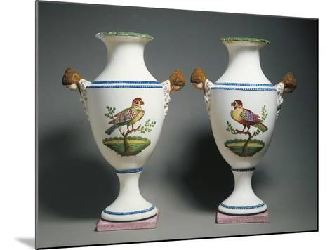 Pair of Amphora Vases Decorated with Birds--Mounted Giclee Print