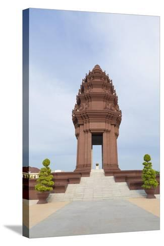 The Independence Monument in Phnom Penh, Cambodia--Stretched Canvas Print