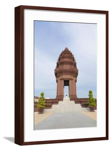 The Independence Monument in Phnom Penh, Cambodia--Framed Art Print