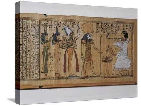 Ancient Egyptian Book of the Dead of Khonsumes--Stretched Canvas Print