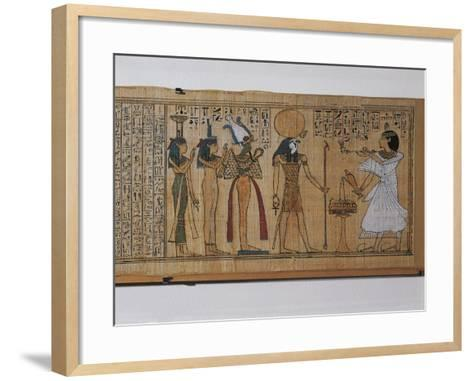 Ancient Egyptian Book of the Dead of Khonsumes--Framed Art Print
