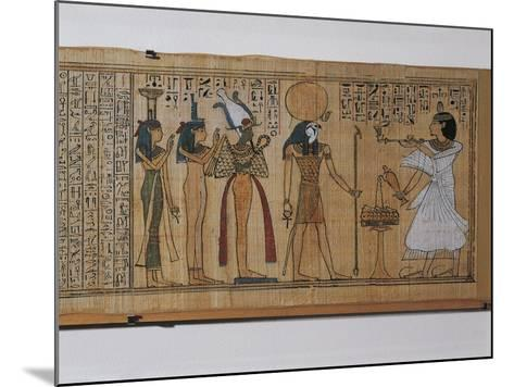 Ancient Egyptian Book of the Dead of Khonsumes--Mounted Giclee Print