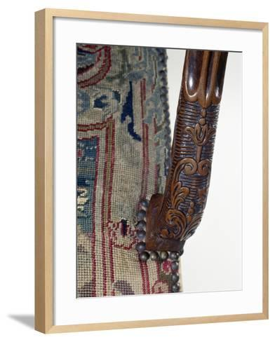 Armrest from Carved Walnut Armchair, France, Late 17th-Early 18th Century, Detail--Framed Art Print
