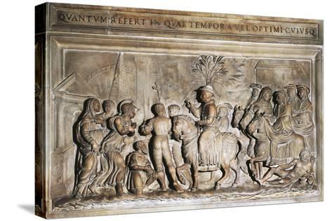 Pope Adrian VI's Entering Rome in 1522, Bas-Relief, Italy, 16th Century--Stretched Canvas Print