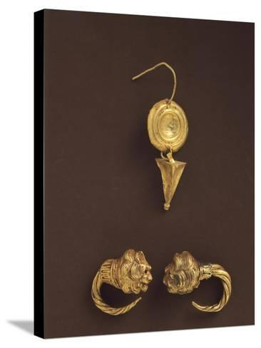 Gold Earrings, 4th-3rd Century BC--Stretched Canvas Print