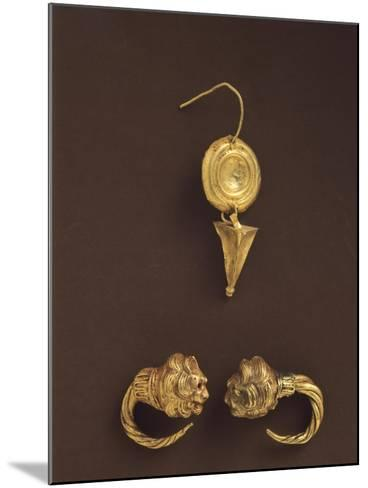 Gold Earrings, 4th-3rd Century BC--Mounted Giclee Print
