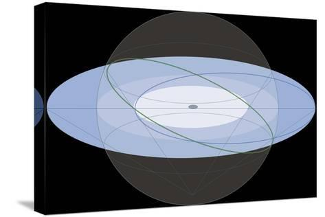 Stereographic Projection of the Ecliptic, Astronomy Diagram--Stretched Canvas Print