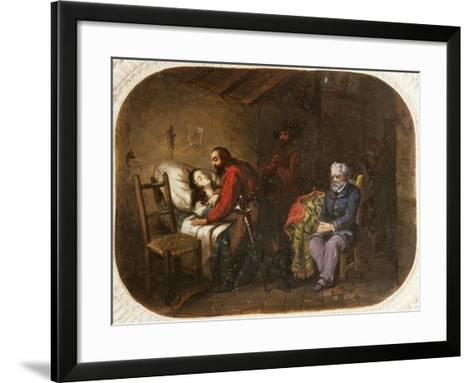 Death of Anita Garibaldi, August 4, 1849, Painting, Italy--Framed Art Print