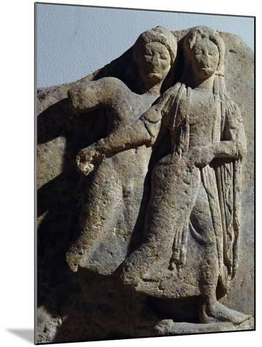 Metope with Relief Depicting Dancing Scene, from Selinunte, Sicily, Italy--Mounted Giclee Print