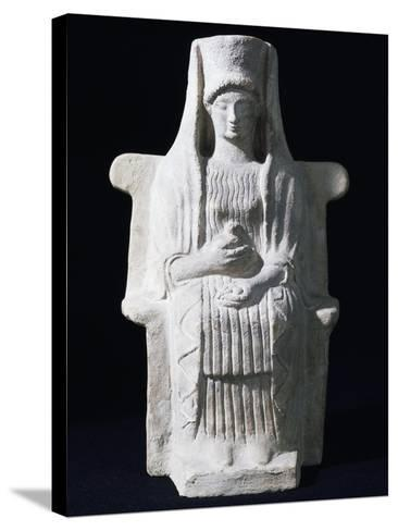 Goddess on Throne, Ancient Greece--Stretched Canvas Print