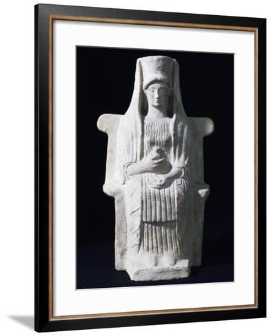 Goddess on Throne, Ancient Greece--Framed Art Print